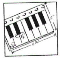 Piano Key Holder Instructions | eBooks | Arts and Crafts