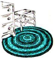 round throw rug crochet pattern