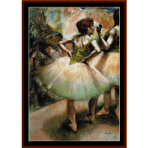 Dancers Pink and Green I - Degas cross stitch pattern by Cross Stitch Collectibles | Crafting | Cross-Stitch | Wall Hangings