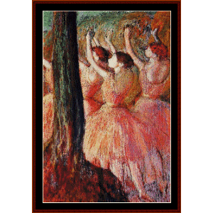 Pink Dancers - Degas cross stitch pattern by Cross Stitch Collectibles | Crafting | Cross-Stitch | Wall Hangings