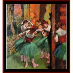 Dancers Pink and Green II - Degas cross stitch pattern by Cross Stitch Collectibles | Crafting | Cross-Stitch | Wall Hangings