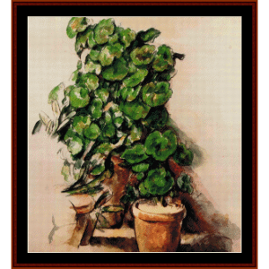 Pots of Geraniums - Cezanne cross stitch pattern by Cross Stitch Collectibles | Crafting | Cross-Stitch | Wall Hangings