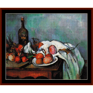 Still Life with Onions - Cezanne cross stitch pattern by Cross Stitch Collectibles | Crafting | Cross-Stitch | Wall Hangings