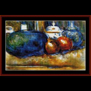 Watermelon and Pomegranates  - Cezanne cross stitch pattern by Cross Stitch Collectibles   Crafting   Cross-Stitch   Other