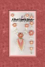 Beaded Irish Rose Necklace and Bracelet   eBooks   Arts and Crafts