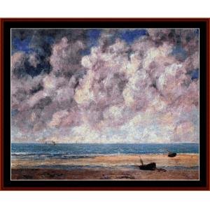 The Calm Sea - Courbet cross stitch pattern by Cross Stitch Collectibles | Crafting | Cross-Stitch | Wall Hangings
