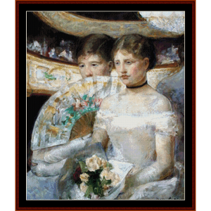 The Loge - Cassatt cross stitch pattern by Cross Stitch Collectibles | Crafting | Cross-Stitch | Other