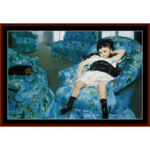 Little Girl - Cassatt cross stitch pattern by Cross Stitch Collectibles | Crafting | Cross-Stitch | Wall Hangings