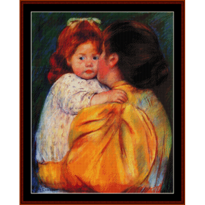 Maternal Kiss - Cassatt cross stitch pattern by Cross Stitch Collectibles | Crafting | Cross-Stitch | Wall Hangings