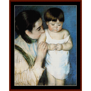 Mother and Son - Cassatt cross stitch pattern by Cross Stitch Collectibles | Crafting | Cross-Stitch | Wall Hangings