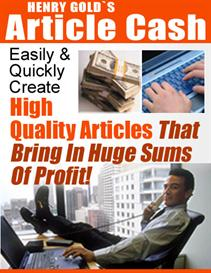 Article Cash | eBooks | Business and Money