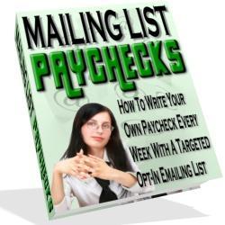 Mailing List Paychecks | eBooks | Internet