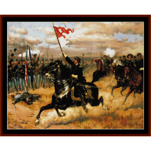 Sheridans Ride - Civil War cross stitch pattern by Cross Stitch Collectibles | Crafting | Cross-Stitch | Wall Hangings