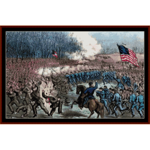 Battle of Chancellorsville - Civil War cross stitch pattern by Cross Stitch Collectibles | Crafting | Cross-Stitch | Wall Hangings