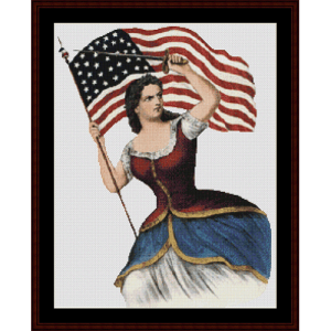 Spirit of 61 - Civil War cross stitch pattern by Cross Stitch Collectibles | Crafting | Cross-Stitch | Wall Hangings
