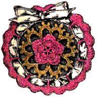 Satin Rose Sachet Crochet Pattern | eBooks | Arts and Crafts