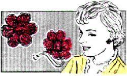 flower earrings crochet pattern