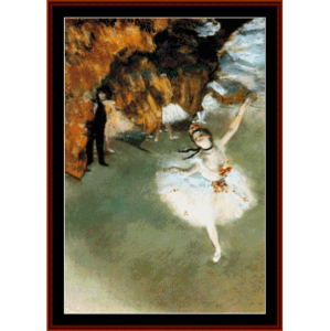 Dancer on Stage - Degas cross stitch pattern by Cross Stitch Collectibles | Crafting | Cross-Stitch | Wall Hangings