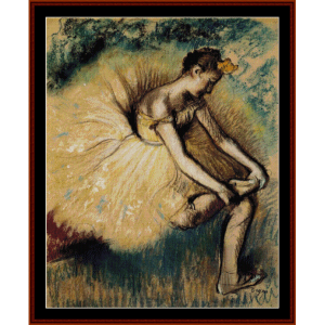 seated dancer ii - degas cross stitch pattern by cross stitch collectibles