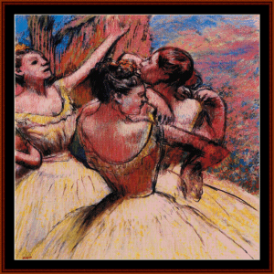 three dancers ii - degas cross stitch pattern by cross stitch collectibles