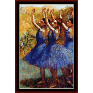 Three Dancers III - Degas cross stitch pattern by Cross Stitch Collectibles | Crafting | Cross-Stitch | Wall Hangings