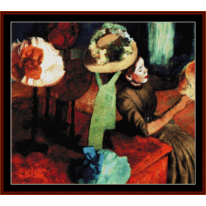 The Millinery Shop - Degas cross stitch pattern by Cross Stitch Collectibles | Crafting | Cross-Stitch | Wall Hangings