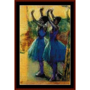 Two Blue Dancers - Degas cross stitch pattern by Cross Stitch Collectibles | Crafting | Cross-Stitch | Wall Hangings