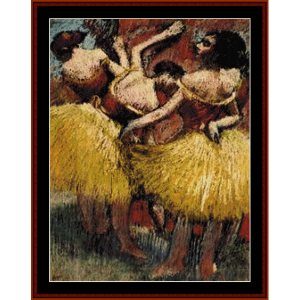 Three Dancers - Degas cross stitch pattern by Cross Stitch Collectibles | Crafting | Cross-Stitch | Wall Hangings