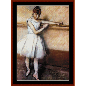 At the Barre - Degas cross stitch pattern by Cross Stitch Collectibles | Crafting | Cross-Stitch | Wall Hangings
