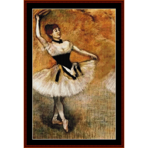 dancer with tambourine - degas cross stitch pattern by cross stitch collectibles