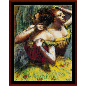 Two Dancers - Degas cross stitch pattern by Cross Stitch Collectibles | Crafting | Cross-Stitch | Wall Hangings