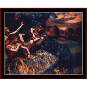 Four Dancers - Degas cross stitch pattern by Cross Stitch Collectibles | Crafting | Cross-Stitch | Wall Hangings