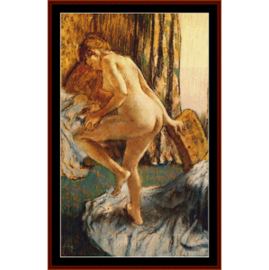 After the Bath III - Degas cross stitch pattern by Cross Stitch Collectibles | Crafting | Cross-Stitch | Wall Hangings