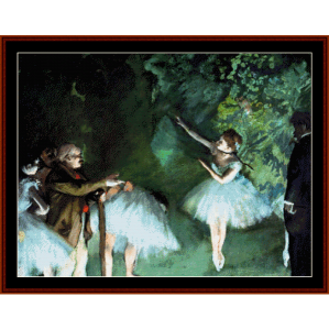 Ballet Rehearsal - Degas cross stitch pattern by Cross Stitch Collectibles | Crafting | Cross-Stitch | Wall Hangings
