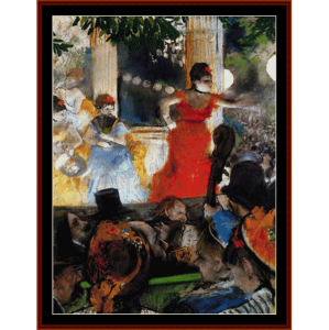 Cafe Concert - Degas cross stitch pattern by Cross Stitch Collectibles | Crafting | Cross-Stitch | Wall Hangings