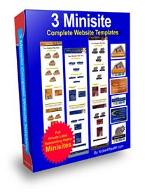 3 minisite complete website templates - full private label rights