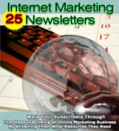 NEW - Internet Marketing 25 Newsletters | eBooks | Business and Money