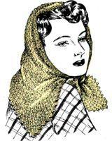 windy day head scarf crochet pattern