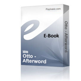 Otto - Afterword | eBooks | Non-Fiction