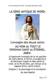 LA SÉRIE ANTIQUE DE WORD: L'Evangile des Douze Saints | eBooks | Religion and Spirituality