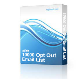 10000 Opt Out Email List