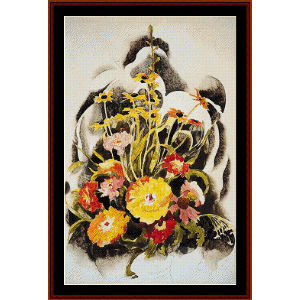 Zinnias and Black Eyed Susans - Demuth cross stitch pattern by Cross Stitch Collectibles | Crafting | Cross-Stitch | Wall Hangings