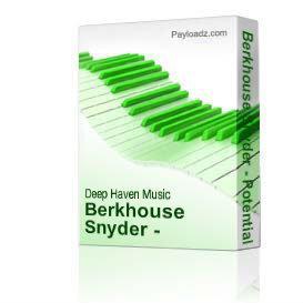 Berkhouse Snyder - Potential Zero - Original Mothership Mix - 3:53 | Music | Electronica
