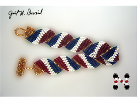 Wavy Flag Bracelet-France | eBooks | Arts and Crafts