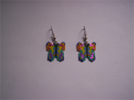 Brick Stitch Butterfly Delica Seed Beading Earring Pattern | Other Files | Arts and Crafts