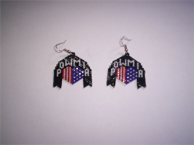 Brick Stitch POW MIA Delica Beading Earring Pattern | Other Files | Arts and Crafts