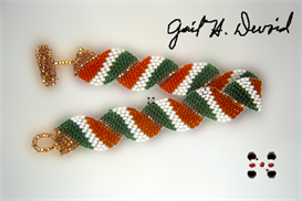 Wavy Flag Bracelet-Ireland | eBooks | Arts and Crafts