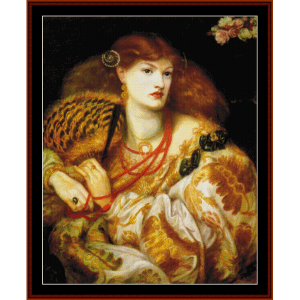 Mona Vanna - Dante Rossetti cross stitch pattern by Cross Stitch Collectibles | Crafting | Cross-Stitch | Wall Hangings