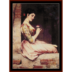 the rose - de blass cross stitch pattern by cross stitch collectibles