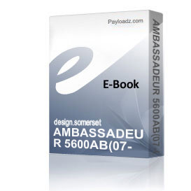 AMBASSADEUR 5600AB(07-00) Schematics and Parts sheet | eBooks | Technical